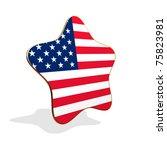 USA flag STAR BANNER - stock photo
