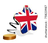 Great Britain Flag Spring Banner - stock photo