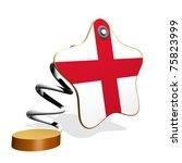 England Flag Spring Banner - stock photo