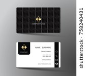 modern business card template... | Shutterstock .eps vector #758240431