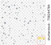 holiday background with silver... | Shutterstock .eps vector #758244784