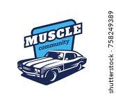 muscle car community logo | Shutterstock .eps vector #758249389