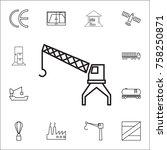 crane hook icon. set of...