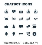 chatbot icon robot chatting set ... | Shutterstock .eps vector #758256574