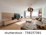 interior of a modern living room | Shutterstock . vector #758257381