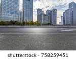empty road with modern business ... | Shutterstock . vector #758259451
