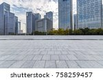 empty floor with modern... | Shutterstock . vector #758259457