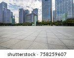 empty floor with modern... | Shutterstock . vector #758259607
