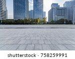 empty floor with modern... | Shutterstock . vector #758259991