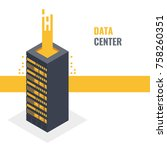 cloud server of storing digital ... | Shutterstock .eps vector #758260351