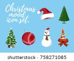 set of christmas mood. 6 label  ...   Shutterstock .eps vector #758271085