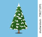 christmas tree  xmas icon....   Shutterstock .eps vector #758271091