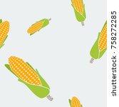editable corn vector...   Shutterstock .eps vector #758272285