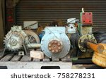 old electrical motors and... | Shutterstock . vector #758278231