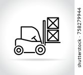 illustration of fork lift icon... | Shutterstock .eps vector #758279944