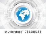 vector digital global...   Shutterstock .eps vector #758285155