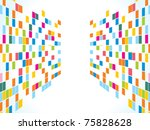 abstract rainbow squares... | Shutterstock .eps vector #75828628