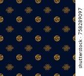 asian pattern. kabuki. japanese ... | Shutterstock .eps vector #758289097