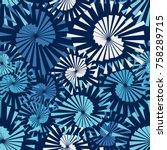 seamless pattern of pentagonal... | Shutterstock .eps vector #758289715