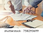 business and finance concept of ... | Shutterstock . vector #758293699