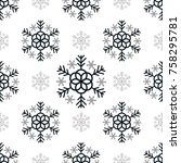 seamless pattern black...   Shutterstock .eps vector #758295781