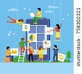 web design and app development... | Shutterstock .eps vector #758302321