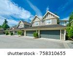 empty street of the nice... | Shutterstock . vector #758310655