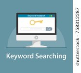 seo keyword searching in pc... | Shutterstock .eps vector #758312287