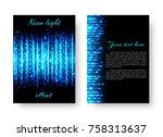 rectangular brochure template... | Shutterstock . vector #758313637