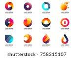 modern minimal vector logo for... | Shutterstock .eps vector #758315107