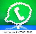 hong kong  nov 11  the facebook ... | Shutterstock . vector #758317099