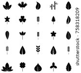 leaf icon set | Shutterstock .eps vector #758318209