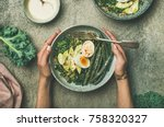 healthy vegetarian breakfast... | Shutterstock . vector #758320327