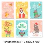 hello winter  merry christmas... | Shutterstock .eps vector #758325709
