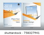 covers design with space for... | Shutterstock .eps vector #758327941