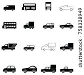 car icon set | Shutterstock .eps vector #758328949