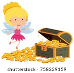 angle flying around the...   Shutterstock .eps vector #758329159