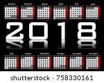 Black And White Calendar 2018