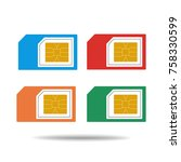 sim card vector | Shutterstock .eps vector #758330599