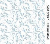 floral seamless pattern.... | Shutterstock .eps vector #758331097