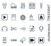 music icons set with bullhorn ...