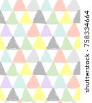 patchwork style seamless... | Shutterstock .eps vector #758334664