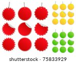 vector price tags | Shutterstock .eps vector #75833929
