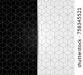 black and white geometric... | Shutterstock .eps vector #758345521