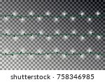 christmas light string effect... | Shutterstock .eps vector #758346985