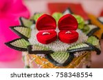 wedding ring in thai wedding... | Shutterstock . vector #758348554