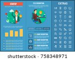 startup infographic template ... | Shutterstock .eps vector #758348971