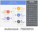 medicine infographic timeline... | Shutterstock .eps vector #758350915