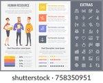 human resource infographic... | Shutterstock .eps vector #758350951