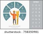 winter sport infographic...